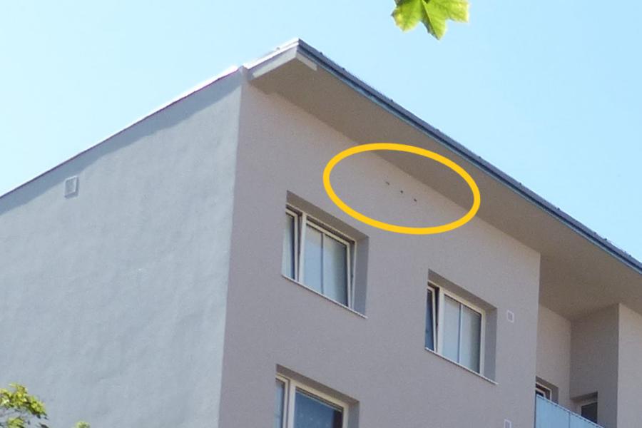 Zateplený dům s náhradními otvory pro ptáky