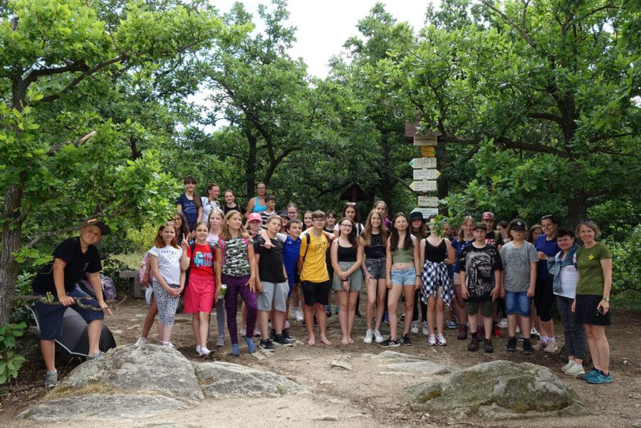 Skupinová fotka, vyhlídka Sealsfieldův kámen, NP Podyjí