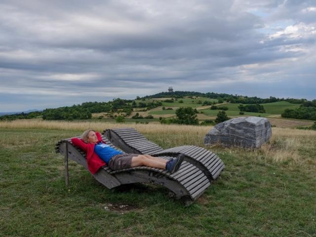 Odpočinkové vyhlídkové místo v Leiser Berge