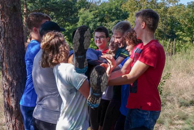 Doma v Podyjí, adaptační program pro školy, teambuilding, Kraví hora v národním parku Podyjí